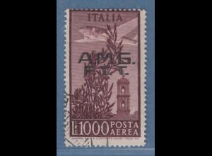 Triest Zone A 1948 Flugpostmarke 1000 Lire Mi.-Nr. 50 gestempelt