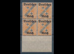 Deutsches Reich Dienstmarke Mi.-Nr. 61 Unterrand-Viererblock **