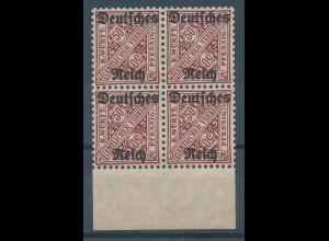 Deutsches Reich Dienstmarke Mi.-Nr. 63 Unterrand-Viererblock **