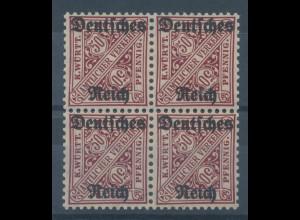 Deutsches Reich Dienstmarke Mi.-Nr. 63 Viererblock **
