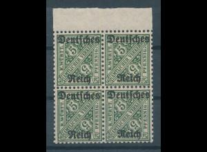 Deutsches Reich Dienstmarke Mi.-Nr. 57 Oberrand-Viererblock **