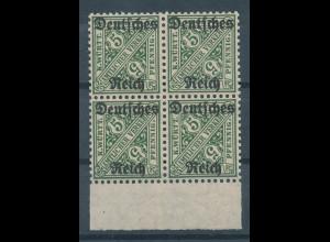 Deutsches Reich Dienstmarke Mi.-Nr. 57 Unterrand-Viererblock **