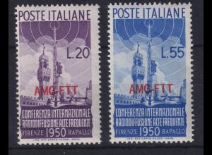 Triest Zone A 1950 Internationale Radiokonferenz Mi.-Nr. 107-108 postfrisch **