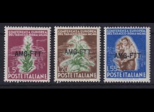 Triest Zone A 1950 Europäische Tabak-Konferenz Mi.-Nr. 115-117 postfrisch **