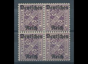Deutsches Reich Dienstmarke Mi.-Nr. 59 Viererblock **
