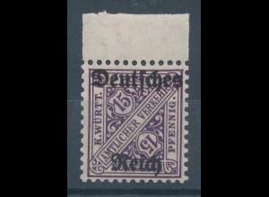 Deutsches Reich Dienstmarke Mi.-Nr. 59 Randstück **