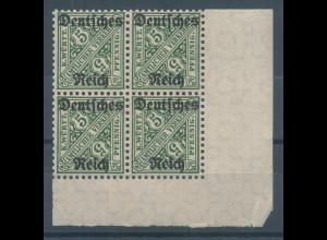 Deutsches Reich Dienstmarke Mi.-Nr. 57 Eckrand-Viererblock **