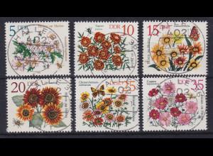 DDR 1982 Herbstblumen Mi.-Nr. 2737-2742 echt gestempelt HALLE