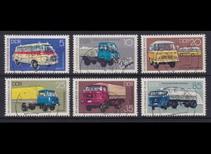 DDR 1982 IFA Fahrzeuge Mi.-Nr. 2744-2749 echt gestempelt HALLE