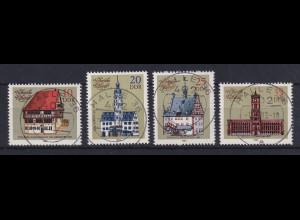 DDR 1983 Historische Rathäuser Mi.-Nr. 2775-2778 echt gestempelt HALLE