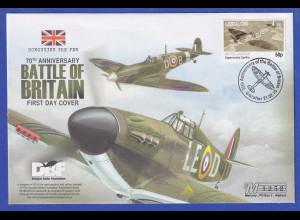 Gibraltar 2010 Battle of Britain Spitfire illustrierter Souvenir-FDC