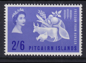 Pitcairn Islands Freedom from Hunger Mi.-Nr. 35 postfrisch **