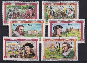 Tuvalu-Vaitupu Britische Könige Richard III. und Charles I. Mi.-Nr. 9-20 **