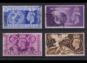 Oman 1948 Olympische Spiele mit Aufdruck Mi.-Nr. 27-30 gestempelt