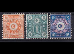 Korea 1884 Unverausgabte Marken Mi.-Nr. I-III ungebraucht *