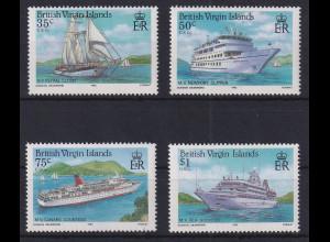 British Virgin Islands 1986 Kreuzfahrtschiffe Mi.-Nr. 537-540 postfrisch **
