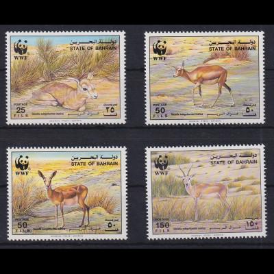 Bahrain 1993 WWF Gazellen Mi.-Nr. 511-514 postfrisch **