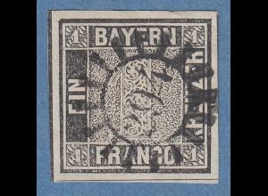 Bayern Schwarzer Einser Platte I einwandfrei mit GMR 294 Rosenheim, Attest BPP