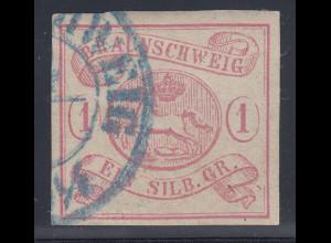 BRAUNSCHWEIG 1852 1 Sgr rot Mi.-Nr. 1 gestempelt