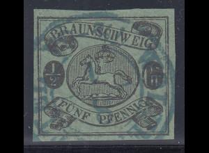 BRAUNSCHWEIG 1863 ½ Gr bzw. 5Pfg Mi.-Nr. 10A gest. geprüft
