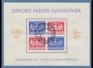 Alliierte Besetzung Hannover-Messe VB auf Souvenirkarte, Sonder-O 27.5.48