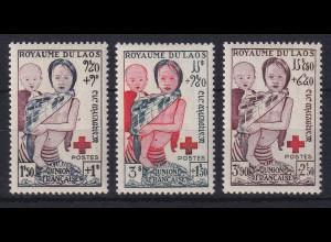 Laos 1953 Rotes Kreuz Mi.-Nr. 31-33 postfrisch **