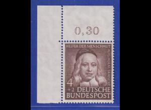 Bundesrepublik 1953 Wohlfahrt 4 Pfg Francke Mi-Nr. 173 Eckrandstück OL **