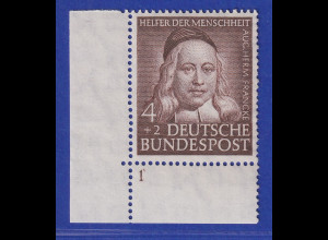 Bundesrepublik 1953 Wohlfahrt 4 Pfg Francke Mi-Nr. 173 Eckrandstück UL **