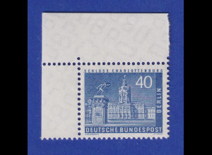 Berlin 1957 Freimarke 40 Pfg Schloss Charlottenburg Mi-Nr.149 Eckrandstück OL **