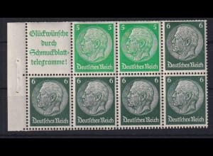 Dt. Reich 1940/41 Heftchen-Blatt Mi.-Nr. 99.1 B oben angetrennt postfrisch **