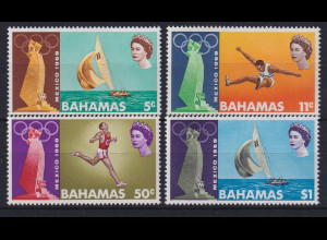 Bahamas 1968 Olympiade in Mexiko Mi.-Nr. 281-284 postfrich **