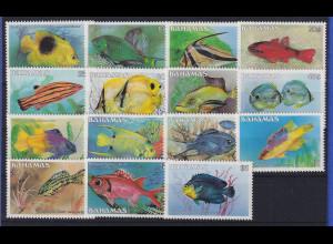 Bahamas 1987 Fische Mi.-Nr. 618-632 (Nr. 633 fehlt) postfrisch **