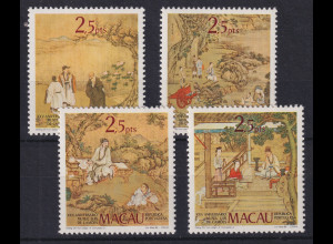 Macau 1985 Altchin. Gemälde Museum Luis de Camoes Mi.-Nr. 536-539 postfrisch **