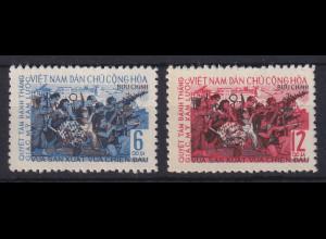 Vietnam Nord 1965 20 Jahre Revolution Mi.-Nr. 385-386 ungestempelt (*)