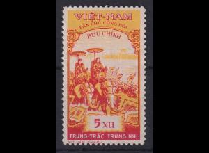 Vietnam Nord 1959 Die Schwestern Tru'ng Mi.-Nr. 95 y ungestempelt *
