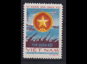 Vietnam Nord 1967 Portofreiheitsmarke Militär Mi.-Nr. 13 ungestempelt (*)
