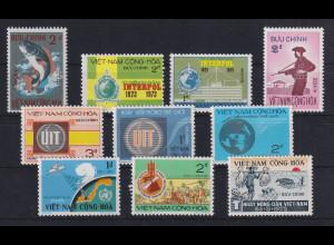 Vietnam Süd Lot mit 10 Werten postfrisch **