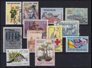 Vietnam Süd Lot mit 12 Werten gestempelt