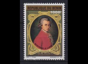 Benin 1991 200. Todestag von W. A. Mozart Mi.-Nr. 509 postfrisch **