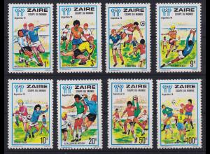 Kongo Zaire 1978 Fußball-WM Argentinien Mi.-Nr. 558-565 postfrisch **