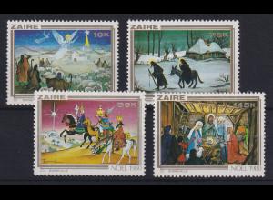 Kongo Zaire 1980 Weihnachten Mi.-Nr. 703-706 postfrisch **