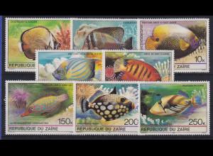 Kongo Zaire 1980 Tropische Fische Mi.-Nr. 664-671 postfrisch **