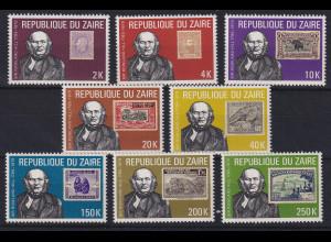 Kongo Zaire 1980 100. Todestag von Rowland Hill Mi.-Nr. 631-638 postfrisch **