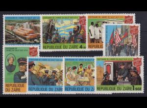 Kongo Zaire 1980 100 Jahre Heilsarmee in den USA Mi.-Nr. 647-654 postfrisch **