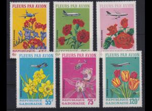 Gabun 1971 Versand von Blumen per Luftfracht Mi.-Nr. 425-429 postfrisch **