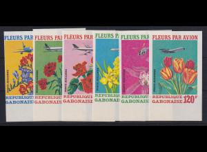 Gabun 1971 Versand von Blumen per Luftfracht Mi.-Nr. A 430 - F 430 postfrisch **
