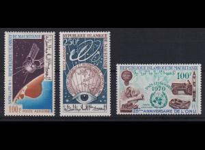 Mauretanien 1966/70 Verschiedene Motive Mi.-Nr. 277, 307, 400 postfrisch **