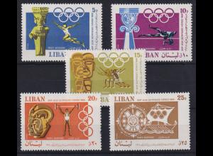 Libanon 1968 Olympische Spiele Mi.-Nr. 1067-1071 postfrisch **