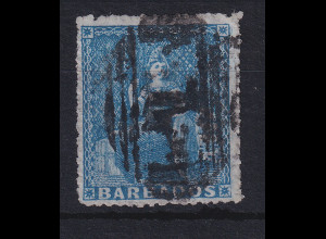Barbados 1858 Sitzende Britannia Mi.-Nr. 7 A gestempelt