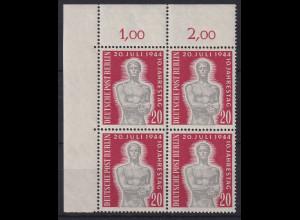 Berlin 1954 20. Juli Gedenken Mi.-Nr. 119 Eckrandviererblock OL postfrisch **